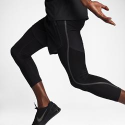 Мужские шорты для тренинга NikeLab Essentials Flex ProМужские шорты для тренинга NikeLab Essentials Flex Pro с универсальной конструкцией сочетают тканые шорты и трикотажные тайтсы со стандартной посадкой и длиной до середины голени.<br>