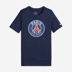 Футболка для мальчиков школьного возраста Paris Saint-Germain CrestФутболка для мальчиков школьного возраста Paris Saint-Germain Crest из мягкого хлопка обеспечивает длительный комфорт на трибунах и на улице.<br>