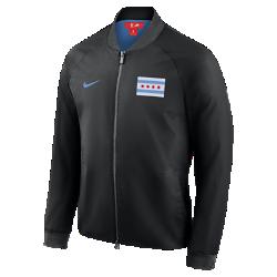 Мужская куртка НБА Chicago Bulls City Edition Nike ModernМужская куртка НБА Chicago Bulls City Edition Nike Modern отражает уникальный стиль нового командного джерси City Edition. Слегка эластичный тканый материал с подкладкой из гладкой тафты идеально сочетается с деталями джерси.<br>
