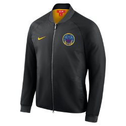 Мужская куртка НБА Golden State Warriors City Edition Nike ModernМужская куртка НБА Golden State Warriors City Edition Nike Modern отражает уникальный стиль нового командного джерси City Edition. Слегка эластичный тканый материал с подкладкой из гладкойтафты идеально сочетается с деталями джерси.<br>