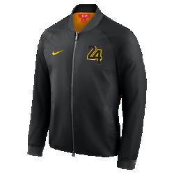Мужская куртка НБА Los Angeles Lakers City Edition Nike ModernМужская куртка НБА Los Angeles Lakers City Edition Nike Modern отражает уникальный стиль нового командного джерси City Edition. Слегка эластичный тканый материал с подкладкой из гладкой тафты идеально сочетается с деталями джерси.<br>