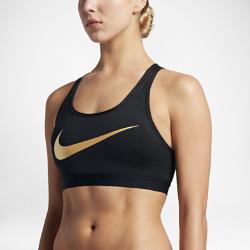 Спортивное бра со средней поддержкой Nike Classic Padded MetallicСпортивное бра со средней поддержкой Nike Classic Padded Metallic из влагоотводящей ткани с компрессионной посадкой обеспечивает поддержку и длительный комфорт.<br>