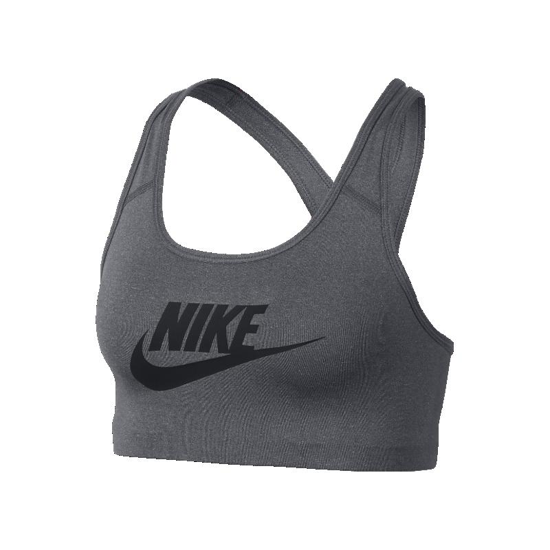 <ナイキ(NIKE)公式ストア>ナイキ クラシック スウッシュ フューチュラ ウィメンズ ミディアムサポート スポーツブラ 899371-091 グレー 30日間返品無料 / Nike+メンバー送料無料
