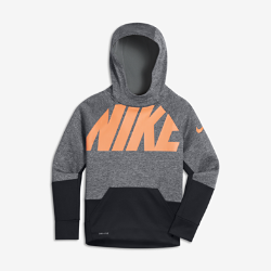 Худи для тренинга для мальчиков школьного возраста Nike ThermaХуди для тренинга для мальчиков школьного возраста Nike Therma из первоклассной влагоотводящей термоткани обеспечивает тепло и комфорт во время тренировок и игр.<br>
