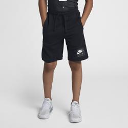 Шорты для мальчиков школьного возраста Nike AirШорты для мальчиков школьного возраста Nike Air из невероятно мягкого и легкого флиса удерживают тепло и обеспечивают комфорт.<br>