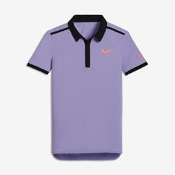 Теннисная рубашка-поло для мальчиков школьного возраста NikeCourt Roger Federer AdvantageТеннисная рубашка-поло для мальчиков школьного возраста NikeCourt Roger Federer Advantage из легкой влагоотводящей ткани обеспечивает комфорт во время игры и на каждый день.<br>