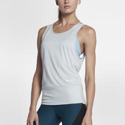 Женская майка для тренинга Nike Dry StudioЖенская майка для тренинга Nike Dry Studio из влагоотводящей ткани с продуманным кроем обеспечивает естественную свободу движений и комфорт.<br>