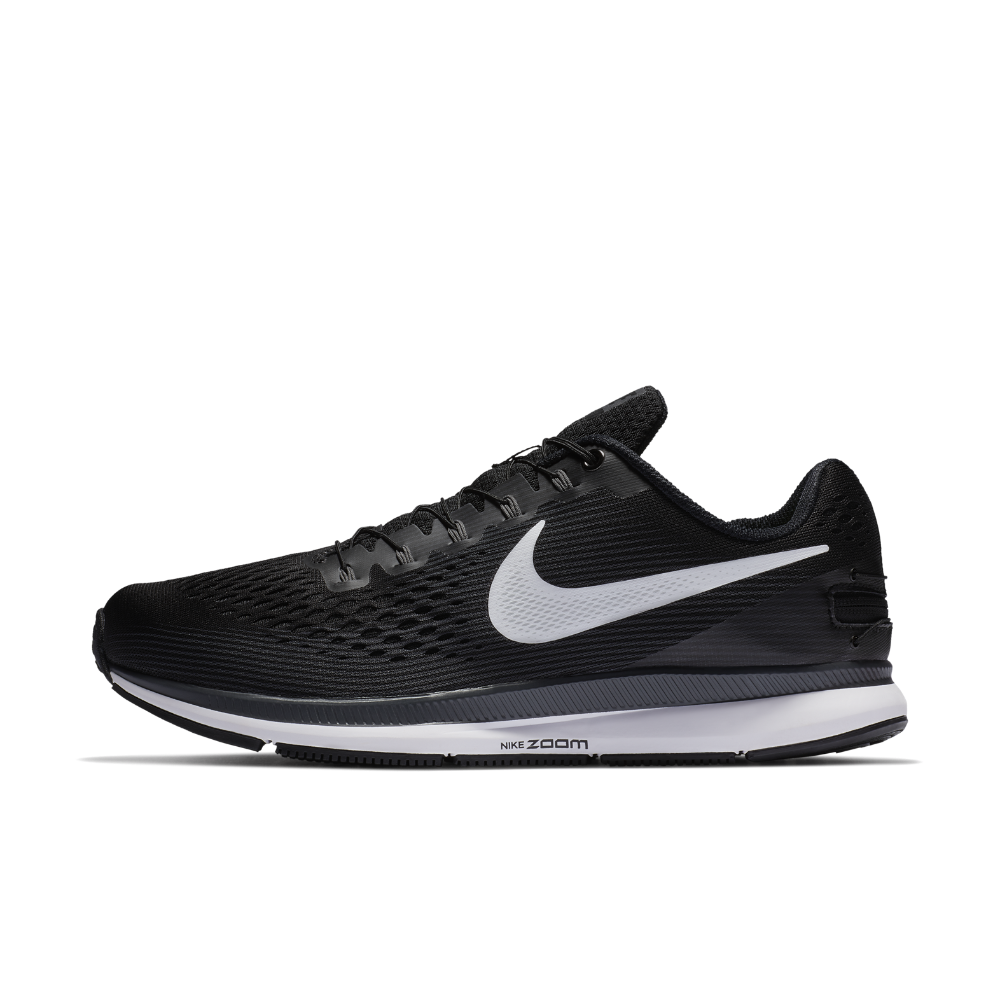 92bbb5c9b6dc Nike Air Zoom Pegasus 34 FlyEase Men s Running Shoe (Extra-Wide) Size 12  (Black) - Clearance Sale
