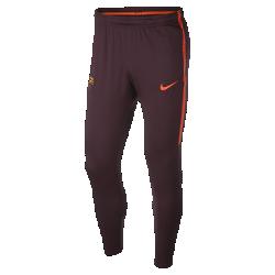 Мужские футбольные брюки FC Barcelona Dry SquadМужские футбольные брюки FC Barcelona Dry Squad из эластичной влагоотводящей ткани обеспечивают длительный комфорт и полную свободу движений во время тренировок.<br>