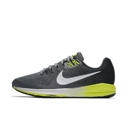 Мужские беговые кроссовки Nike Air Zoom Structure 21 (на широкую ногу)Более легкие и прочные, чем предыдущая версия, мужские беговые кроссовки Nike Air Zoom Structure 21 (на широкую ногу) обеспечивают по-прежнему высокий уровень стабилизации и поддержки. Более мягкий и легкий материал Flymesh обеспечивает охлаждение, а система мгновенной амортизации Nike Zoom Air в передней части создает ощущение упругости при каждом шаге.  Воздухопроницаемость и комфорт  Верх из цельного материала Flymesh для усиленной вентиляции. Это более легкая версия материала Flymesh, которая по-прежнему обеспечивает надежную поддержку.  Надежная посадка и поддержка  Технология Dynamic Fit задействует нити Flywire и внутренний ремешок в области свода стопы для адаптивной стабилизации. Два верхних отверстия шнуровки дополнены прочнымии в то же время ультралегкими нитями Flywire, которые интегрированы со шнурками для дополнительной поддержки. А эластичный ремешок в области свода стопы создает фиксацию, предотвращая проскальзывание во время бега.  Превосходная стабилизация  Широкая плоская подметка и два типа амортизирующего пеноматериала обеспечивают стабилизацию. Более твердый пеноматериал располагается на внутренней части сводастопы, а более мягкий — с внешней стороны. Это создает нужный уровень стабилизации и защиты от ударных нагрузок.<br>
