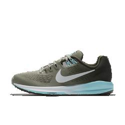 Женские беговые кроссовки Nike Air Zoom Structure 21Более легкие и прочные, чем предыдущая версия, женские беговые кроссовки Nike Air Zoom Structure 21 обеспечивают по-прежнему высокий уровень стабилизации и поддержки. Более мягкий и легкий материал Flymesh обеспечивает охлаждение, а система мгновенной амортизации Nike Zoom Air в передней части создает ощущение упругости при каждом шаге.  Воздухопроницаемость и комфорт  Верх из цельного материала Flymesh для усиленной вентиляции. Это более легкая версия материала Flymesh, которая по-прежнему обеспечивает надежную поддержку.  Надежная посадка и поддержка  Технология Dynamic Fit задействует нити Flywire и внутренний ремешок в области свода стопы для адаптивной стабилизации. Два верхних отверстия шнуровки дополнены прочнымии в то же время ультралегкими нитями Flywire, которые интегрированы со шнурками для дополнительной поддержки. А эластичный ремешок в области свода стопы создает фиксацию, предотвращая проскальзывание во время бега.  Превосходная стабилизация  Широкая плоская подметка и два типа амортизирующего пеноматериала обеспечивают стабилизацию. Более твердый пеноматериал располагается на внутренней части сводастопы, а более мягкий — с внешней стороны. Это создает нужный уровень стабилизации и защиты от ударных нагрузок.<br>
