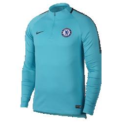 Мужская игровая футболка Chelsea FC Dri-FIT Squad DrillМужская игровая футболка Chelsea FC Dri-FIT Squad Drill из эластичной влагоотводящей ткани с рукавами покроя реглан обеспечивает комфорт и свободу движений на поле.<br>