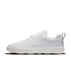 Мужские кроссовки для гольфа Nike Course ClassicКроссовки Nike Course Classic с защитой от скопления грязи и дизайном в стиле ретро подходят как для игры, так и на каждый день.  ЗАЩИТА ОТ НАЛИПАНИЯ ГРЯЗИ  Подметка с анатомическим распределением давления разработана специально для игры в гольф: она не позволяет грязи скапливаться и обеспечивает сцепление.  ЗАЩИТА ОТ ВЛАГИ  Водонепроницаемый верх обеспечивает комфорт, позволяя продолжать игру при ухудшении погоды.  МАКСИМАЛЬНЫЙ КОМФОРТ И ПОДДЕРЖКА  Подошва из пеноматериала во всю длину стопы для максимального комфорта и поддержки.<br>