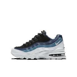 Кроссовки для школьников Nike Air Max 95Кроссовки для школьников Nike Air Max 95 Premium, созданные на основе первой модели с амортизирующей вставкой Max Air в передней части, сочетают поддерживающие накладки и мягкую систему амортизации Max Air для легкости и комфорта на весь день.<br>
