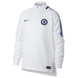 Игровая футболка для школьников Chelsea FC Dry Squad DrillИгровая футболка для школьников Chelsea FC Dry Squad Drill из эластичной влагоотводящей ткани с рукавами покроя реглан обеспечивает комфорт и свободу движений на поле.<br>