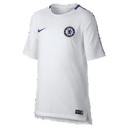 Игровая футболка для школьников Chelsea FC Breathe SquadИгровая футболка для школьников Chelsea FC Breathe Squad из влагоотводящей ткани с сетчатой вставкой на спине обеспечивает вентиляцию и комфорт на поле и за его пределами.<br>
