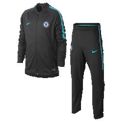 Футбольный костюм для школьников Chelsea FC Dry SquadФутбольный костюм для школьников Chelsea FC Dry Squad из влагоотводящей ткани с фирменными деталями обеспечивает комфорт.<br>
