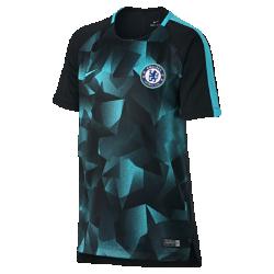 Игровая футболка с коротким рукавом для школьников Chelsea FC SquadИгровая футболка с коротким рукавом для школьников Chelsea FC Squad из легкой влагоотводящей ткани с анатомическими швами обеспечивает комфорт на поле и на трибунах.<br>