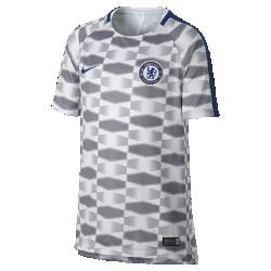 Игровая футболка для школьников Chelsea FC Dry SquadИгровая футболка для школьников Chelsea FC Dry Squad обеспечивает комфорт на поле благодаря легкой влагоотводящей ткани и сетчатой вставке на спине.<br>