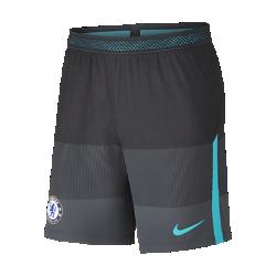Мужские футбольные шорты Chelsea FC AeroSwift StrikeМужские футбольные шорты Chelsea FC AeroSwift Strike из дышащей эластичной ткани обеспечивают охлаждение, позволяя играть на высокой скорости.<br>