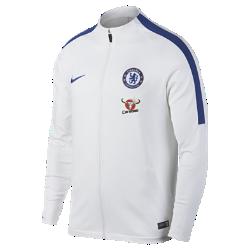 Мужская футбольная куртка Chelsea FC Dry StrikeМужская футбольная куртка Chelsea FC Dry Strike с эргономичным дизайном обеспечивает защиту и комфорт на трибунах или во время тренировки.<br>