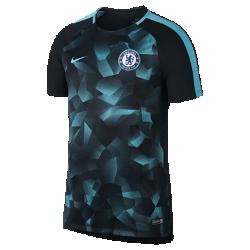 Мужская игровая футболка с коротким рукавом Chelsea FC Dry SquadМужская игровая футболка Chelsea FC из эластичной влагоотводящей ткани с короткими рукавами покроя реглан обеспечивает комфорт и свободу движений на поле.<br>