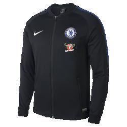 Мужская куртка Chelsea FC Dri-FIT SquadМужская куртка Chelsea FC Dri-FIT Squad из влагоотводящей ткани с фирменными деталями обеспечивает комфорт.<br>