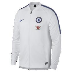 Мужская куртка Chelsea FC Dry SquadМужская куртка Chelsea FC Dry Squad из влагоотводящей ткани с фирменными деталями обеспечивает комфорт.<br>