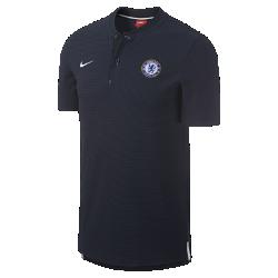 Мужская рубашка-поло Chelsea FC Modern Authentic Grand SlamМужская рубашка-поло Chelsea FC Modern Authentic Grand Slam из мягкого смесового хлопка с тканой накладкой с символикой команды.<br>