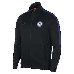Мужская футбольная куртка Chelsea FC FranchiseМужская футбольная куртка Chelsea FC Franchise из мягкой и прочной ткани двойного переплетения с фирменными деталями обеспечивает комфорт на весь день.<br>