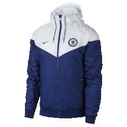 Мужская куртка Chelsea FC Authentic WindrunnerМужская куртка Chelsea FC Authentic Windrunner сохранила классические элементы оригинальной модели: вставку в виде шеврона на груди и прочную ткань, которая защищает от непогодыво время игры и на улицах города.<br>