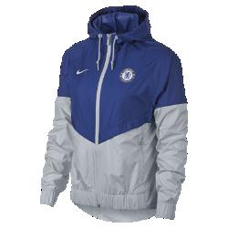 Женская куртка Chelsea FC Authentic WindrunnerЖенская куртка Chelsea FC Authentic Windrunner сохранила классические элементы оригинальной модели: вставку в виде шеврона на груди и прочную ткань, которая защищает от непогодыво время игры и на улицах города.<br>