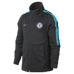 Футбольная куртка для школьников Chelsea FC FranchiseФутбольная куртка для школьников Chelsea FC Franchise из мягкой и прочной ткани двойного переплетения с фирменными деталями обеспечивает комфорт на весь день.<br>