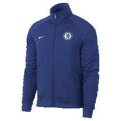 Мужская футбольная куртка Chelsea FCМужская футбольная куртка Chelsea FC из мягкой и прочной ткани с фирменными деталями обеспечивает комфорт на весь день.<br>
