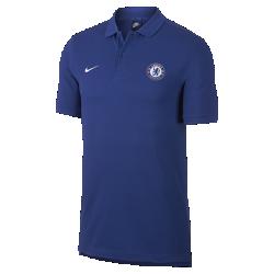 Мужская футбольная рубашка-поло Chelsea FC CrestМужская футбольная рубашка-поло Chelsea FC Crest из мягкого и прочного хлопка с клубной символикой обеспечивает комфорт на весь день.<br>