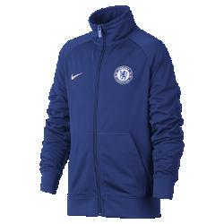 Куртка для школьников Chelsea FCКуртка для школьников Chelsea FC застегивается до подбородка для регулируемой защиты и обеспечивает свободу движений благодаря рукавам покроя реглан.<br>