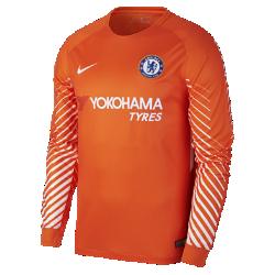 Мужское футбольное джерси с длинным рукавом 2017/18 Chelsea FC Stadium GoalkeeperМужское футбольное джерси с длинным рукавом 2017/18 Chelsea FC Stadium Goalkeeper из легкой влагоотводящей ткани обеспечивает охлаждение и комфорт.<br>