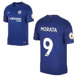 Мужское футбольное джерси 2017/18 Chelsea FC Stadium Home (Alvaro Morata)Мужское футбольное джерси 2017/18 Chelsea FC Stadium Home (Alvaro Morata) из дышащей влагоотводящей ткани обеспечивает охлаждение и комфорт.<br>