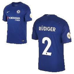 Мужское футбольное джерси 2017/18 Chelsea FC Stadium Home (Antonio Rudiger)Мужское футбольное джерси 2017/18 Chelsea FC Stadium Home (Antonio Rudiger) из дышащей влагоотводящей ткани обеспечивает охлаждение и комфорт.<br>