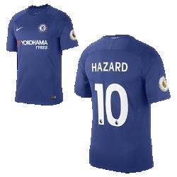 Мужское футбольное джерси 2017/18 Chelsea FC Stadium Home (Eden Hazard)Мужское футбольное джерси 2017/18 Chelsea FC Stadium Home (Eden Hazard) из дышащей влагоотводящей ткани обеспечивает охлаждение и комфорт.<br>