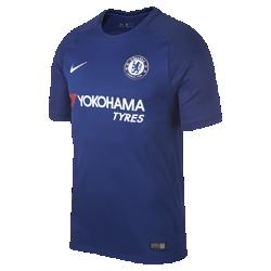 Мужское футбольное джерси 2017/18 Chelsea FC Stadium HomeМужское футбольное джерси 2017/18 Chelsea FC Stadium Home из дышащей влагоотводящей ткани обеспечивает охлаждение и комфорт.<br>