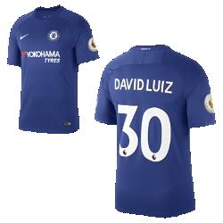 Мужское футбольное джерси 2017/18 Chelsea FC Stadium Home (David Luiz)Мужское футбольное джерси 2017/18 Chelsea FC Stadium Home (David Luiz) из дышащей влагоотводящей ткани обеспечивает охлаждение и комфорт.<br>