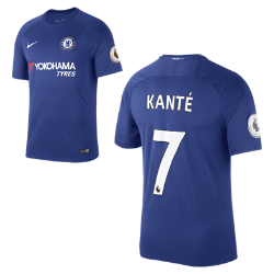 Мужское футбольное джерси 2017/18 Chelsea FC Stadium Home (NGolo Kante)Мужское футбольное джерси 2017/18 Chelsea FC Stadium Home (NGolo Kante)из дышащей влагоотводящей ткани обеспечивает охлаждение и комфорт.<br>