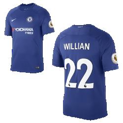 Мужское футбольное джерси 2017/18 Chelsea FC Stadium Home (Willian Borges)Мужское футбольное джерси 2017/18 Chelsea FC Stadium Home (Willian Borges) из дышащей влагоотводящей ткани обеспечивает охлаждение и комфорт.<br>