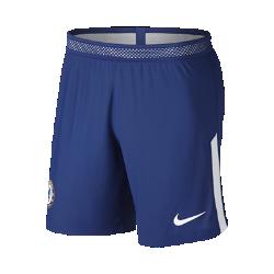 Мужские футбольные шорты 2017/18 Chelsea FC Vapor Match HomeМужские футбольные шорты 2017/18 Chelsea FC Vapor Match Home из легкой ткани с зональной вентиляцией и символикой клуба создают ощущение прохлады и комфорта.<br>