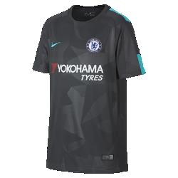Футбольное джерси для школьников 2017/18 Chelsea FC Stadium ThirdФутбольное джерси для школьников 2017/18 Chelsea FC Stadium Third из дышащей влагоотводящей ткани обеспечивает охлаждение и комфорт.<br>