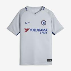 Футбольное джерси для школьников 2017/18 Chelsea FC Stadium AwayФутбольное джерси для школьников 2017/18 Chelsea FC Stadium Away из дышащей влагоотводящей ткани обеспечивает охлаждение и комфорт.<br>