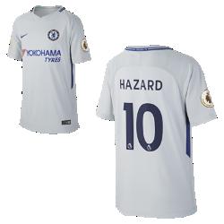 Футбольное джерси для школьников 2017/18 Chelsea FC Stadium Away (Eden Hazard)Футбольное джерси для школьников 2017/18 Chelsea FC Stadium Away (Eden Hazard) из дышащей влагоотводящей ткани обеспечивает охлаждение и комфорт.<br>