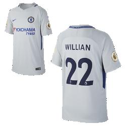 Футбольное джерси для школьников 2017/18 Chelsea FC Stadium Away (Willian Borges)Футбольное джерси для школьников 2017/18 Chelsea FC Stadium Away (Willian Borges) из дышащей влагоотводящей ткани обеспечивает охлаждение и комфорт.<br>