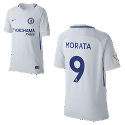 Футбольное джерси для школьников 2017/18 Chelsea FC Stadium Away (Alvaro Morata)Футбольное джерси для школьников 2017/18 Chelsea FC Stadium Away (Alvaro Morata) из дышащей влагоотводящей ткани обеспечивает охлаждение и комфорт.<br>